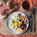 dejeuner, breakfast, croissant, croissants, Micro Croissants®, petite bretonne, eggs, oeufs, jambon, ham